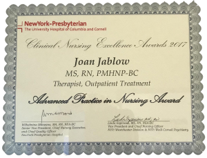 Joan Jablow award